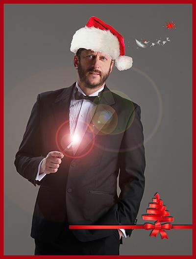 """Weihnachtsmann-Zauberer """"Magic Santa"""" für Weihnachtsfeier"""