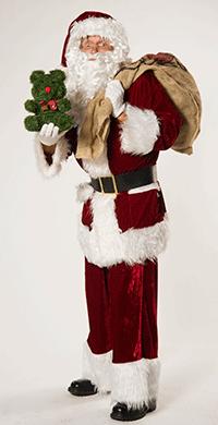 Klassischer Weihnachtsmann (Nikolaus) für traditionelle Bescherung für Kinder