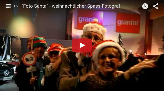 weihnachtsmann Fotograf Walkact comedy weihnachtsfeier