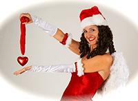 Wahrsagende-Weihnachtsfrau-Weihnachtsfeier--Comedy-Walkact