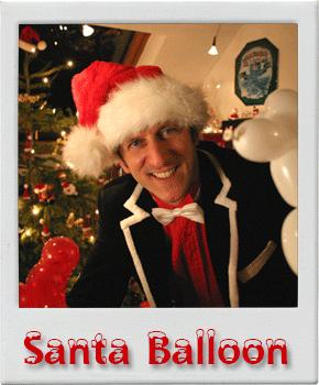Santa Balloon Luftballonmodellage luftballon künstler Weihnachtsfeier Weihnachtsmann